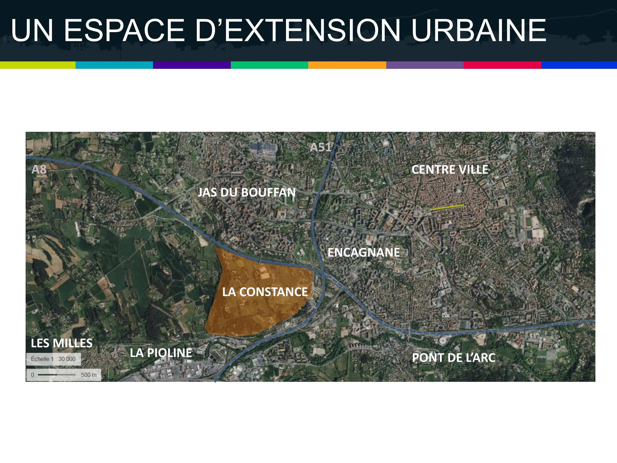 La Constance : un espace d'extension urbaine