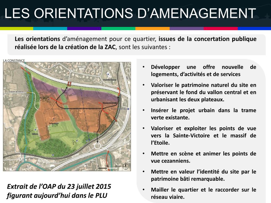 Les orientations d'aménagement de La Constance