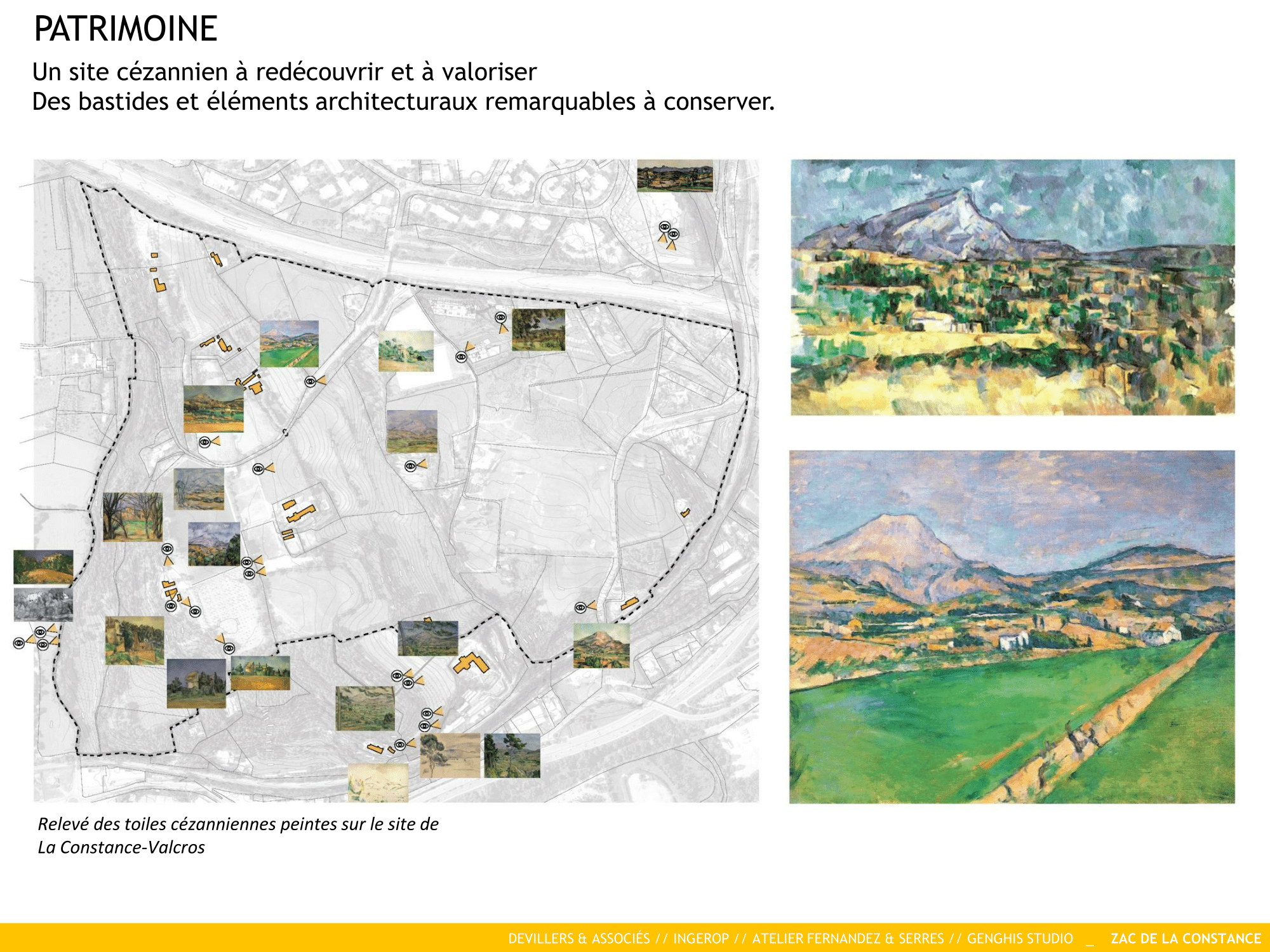 Patrimoine La Constance : un site cézannien