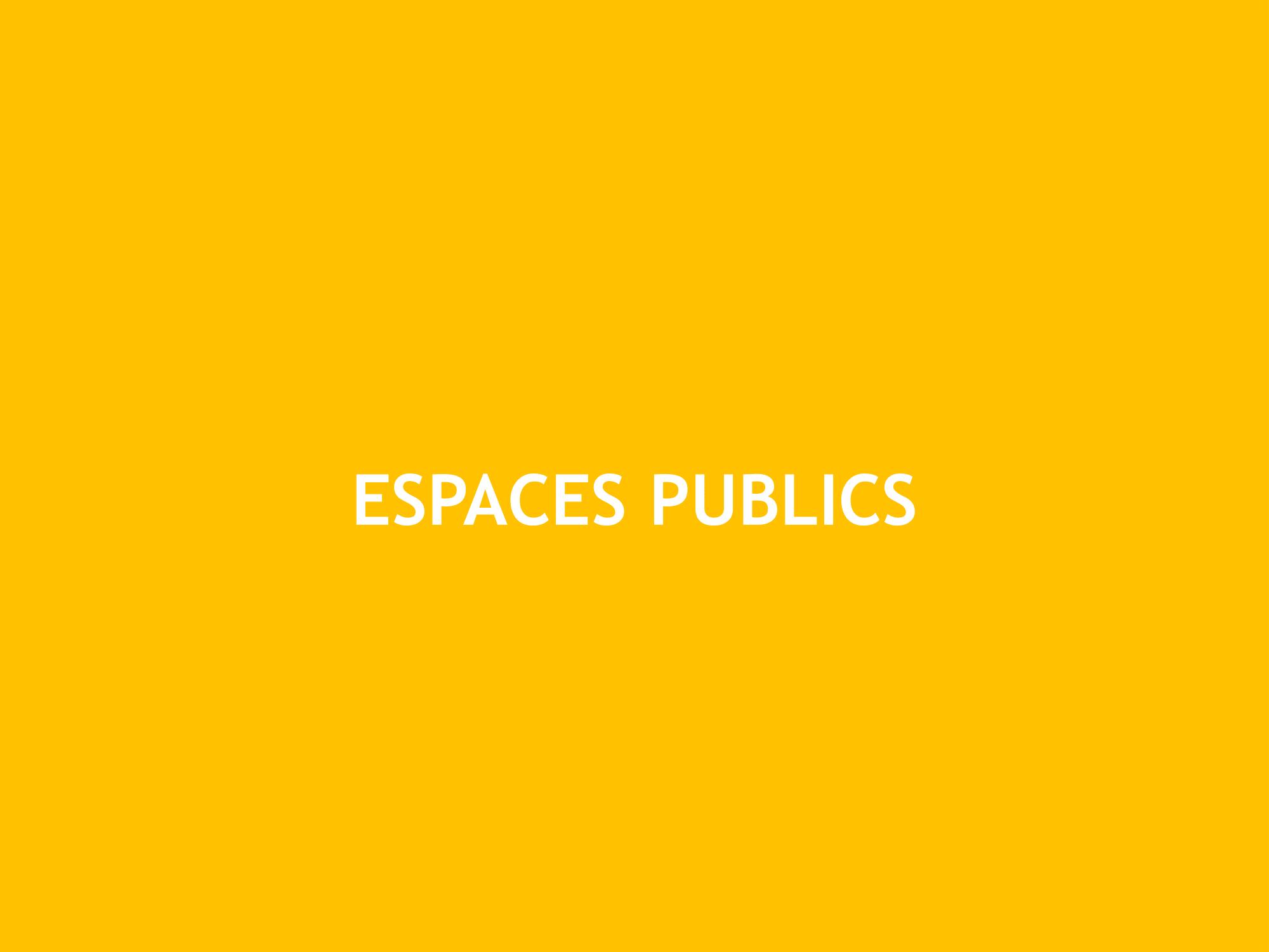 La Constance : Les espaces publics