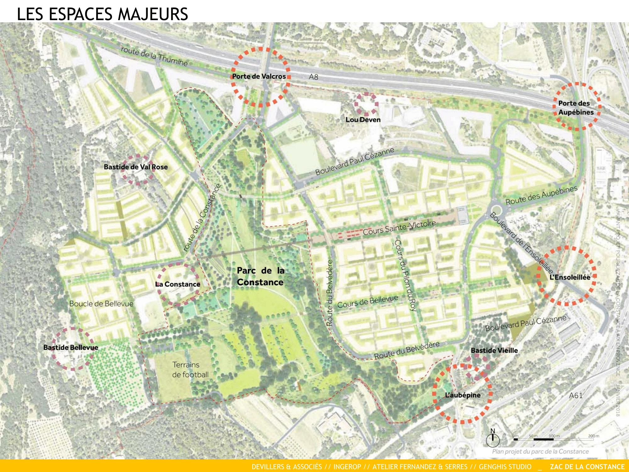 La Constance : Les espaces publics majeurs