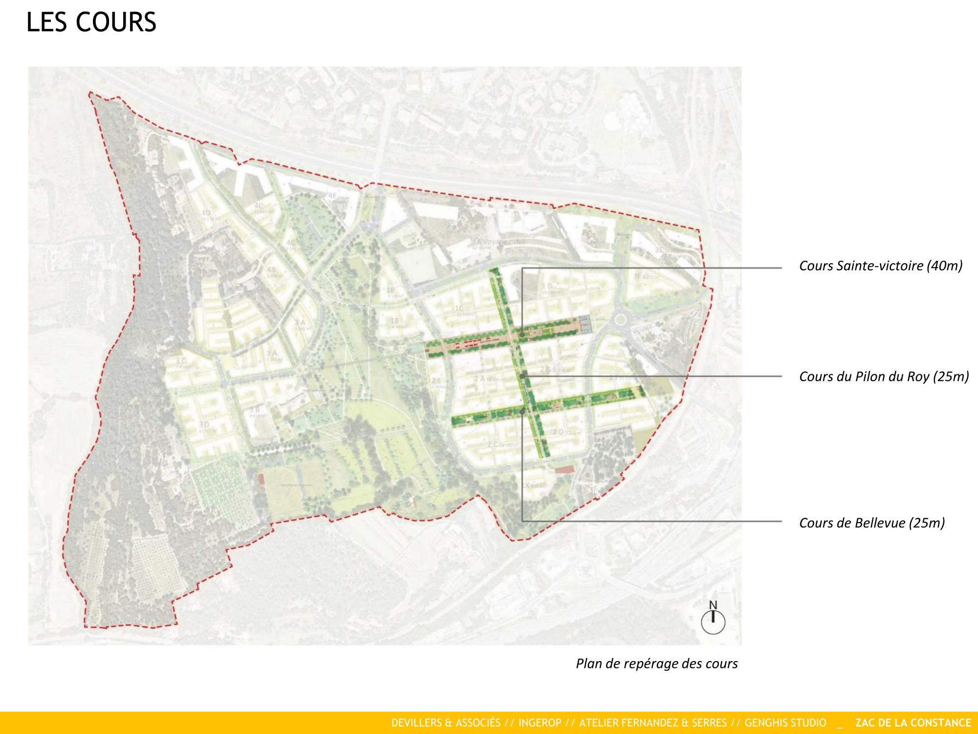 La Constance : Les Cours